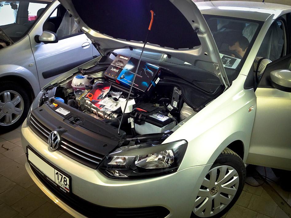 Установка противоугонного комплекта на VW Polo (MS Грифон)