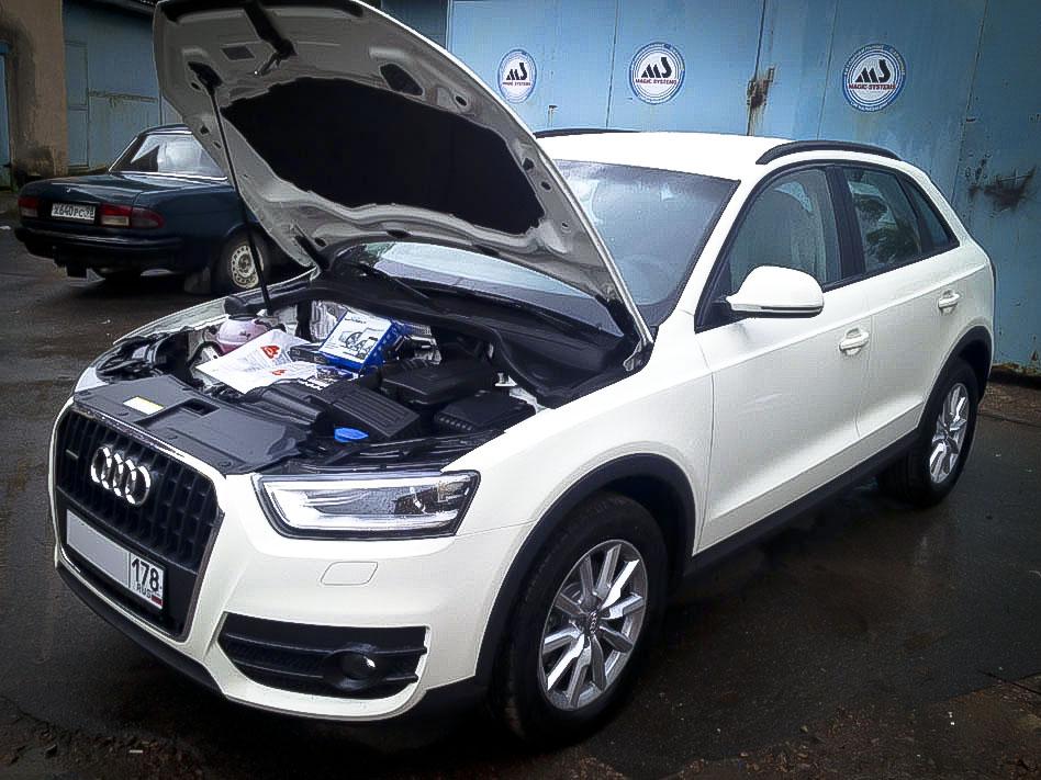 Установка сигнализации MS Супер Агент на Audi Q3