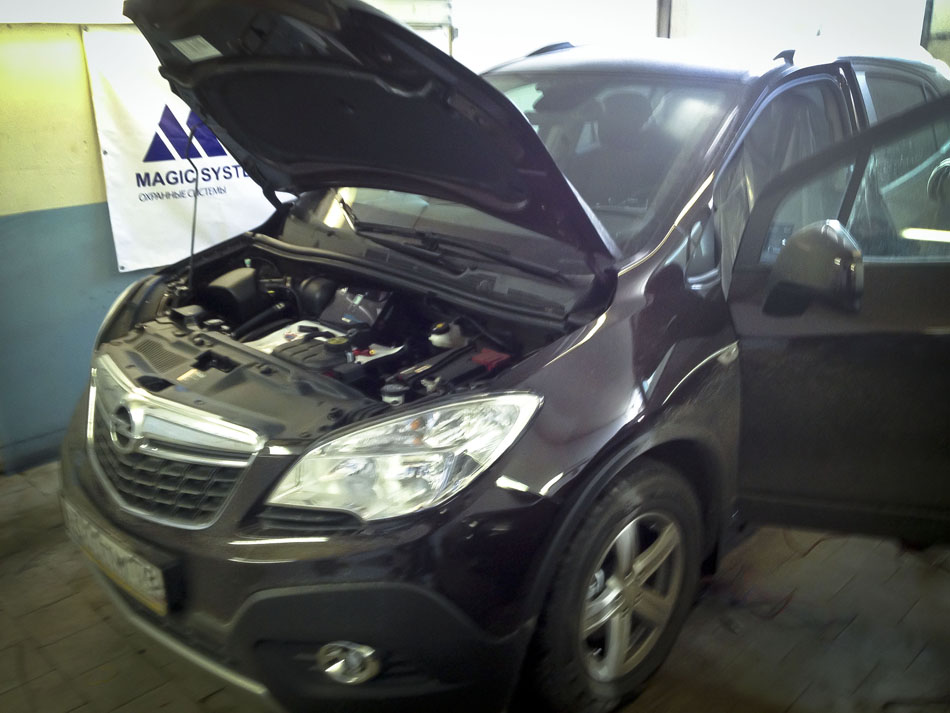 Установка сигнализации MS-530 на Opel Mokka