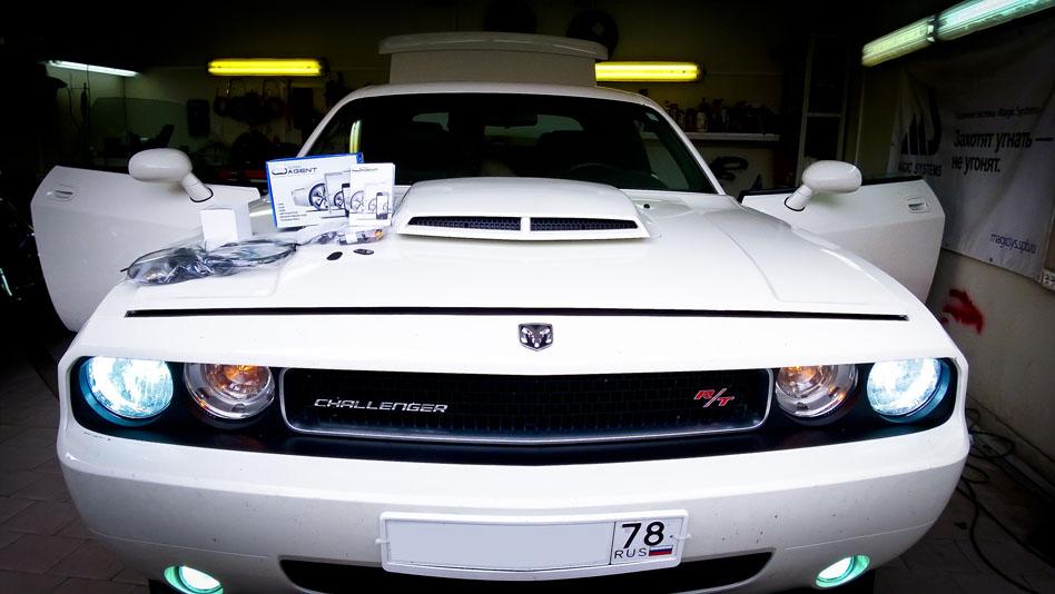 Комплексная защита автомобиля Dodge Challenger и улучшение света