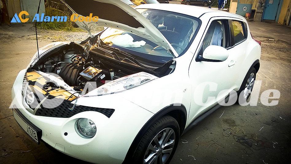 Магнитола и сигнализация на Nissan Juke