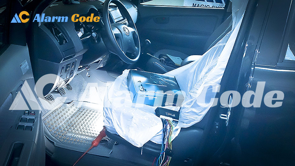 Установка сигнализации на Toyota Hilux