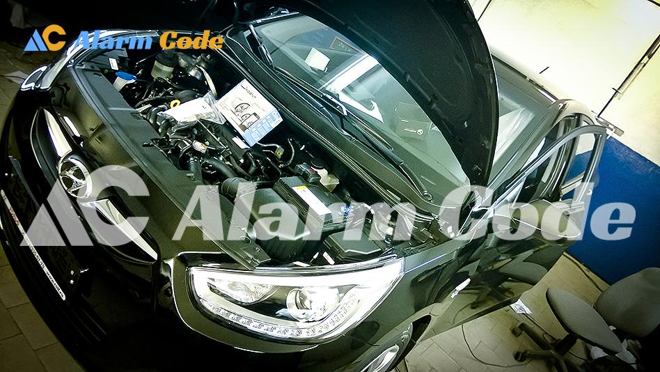 Установка сигнализации MS Super Agent на Hyundai Solaris с автозапуском