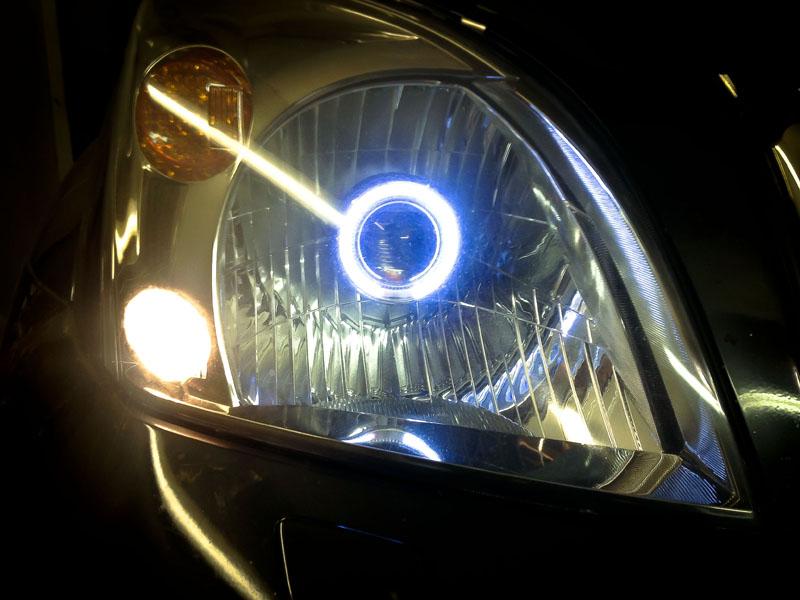 Улучшение света фар на Toyota Prado с помощью биксеноновой модуль-линзы J-Power 1G