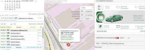 Протокол событий Car-Online