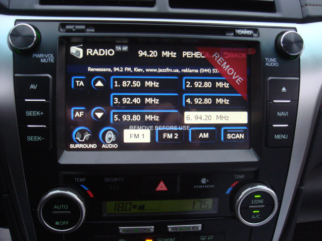Автомагнитола Flyaudio Toyota Camry V50 75066A01