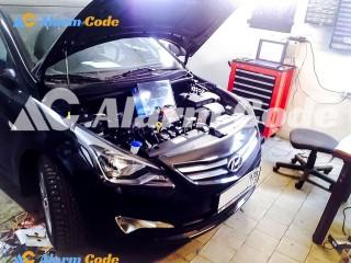Сигнализация с автозапуском на Hyundai Solaris