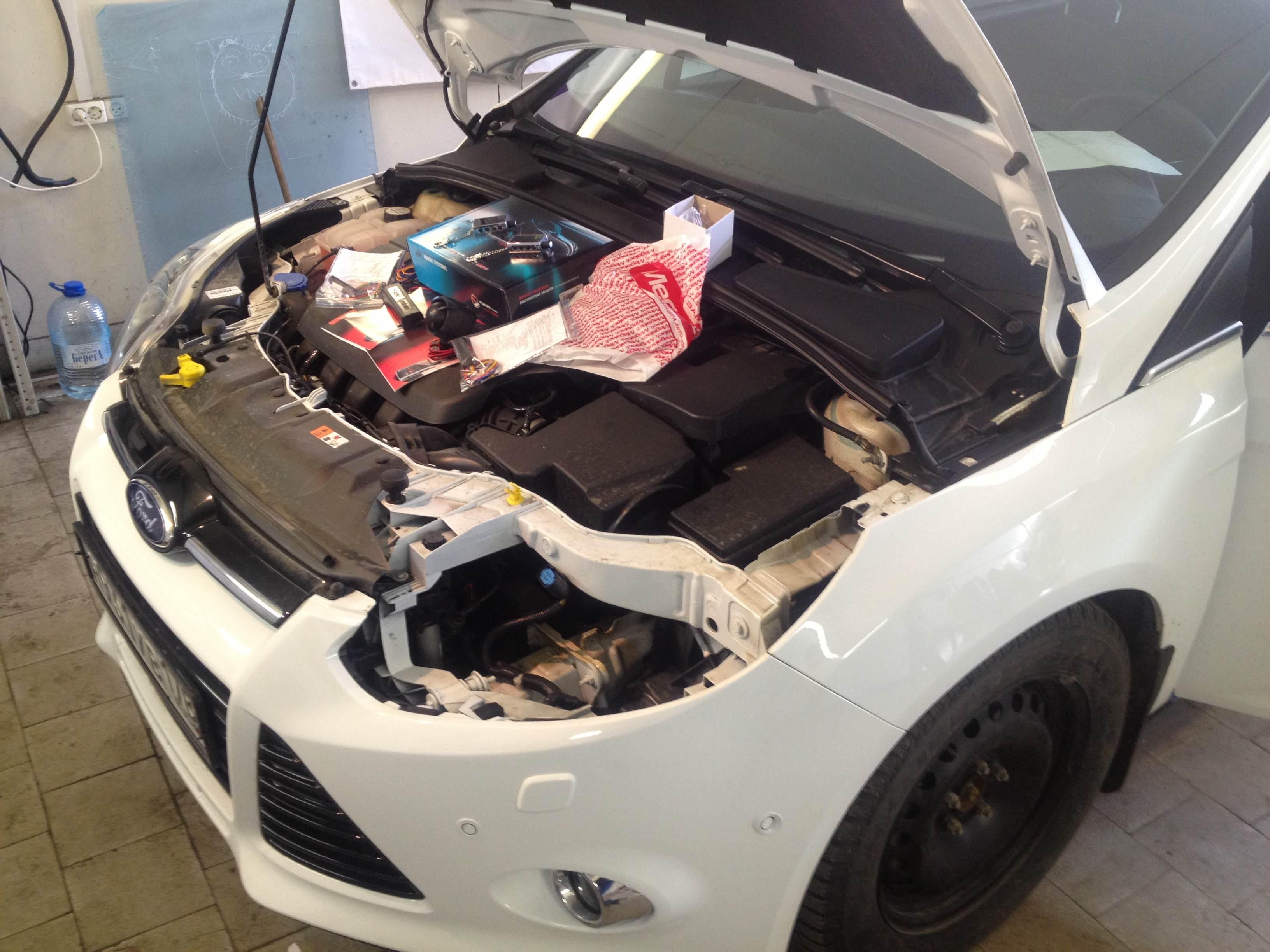 Установка противоугонной системы на Ford Focus 3