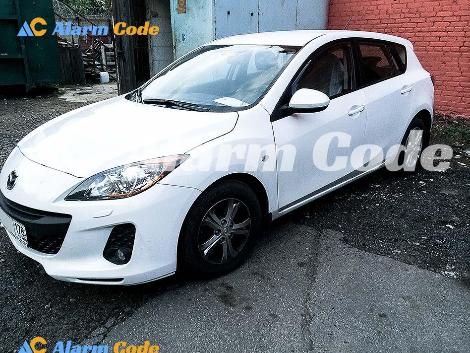 Попытка угона Mazda 3 в СПб